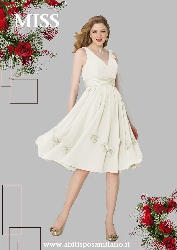 L abito sposa CORTO glamour ed elegante  9b974a7b65f